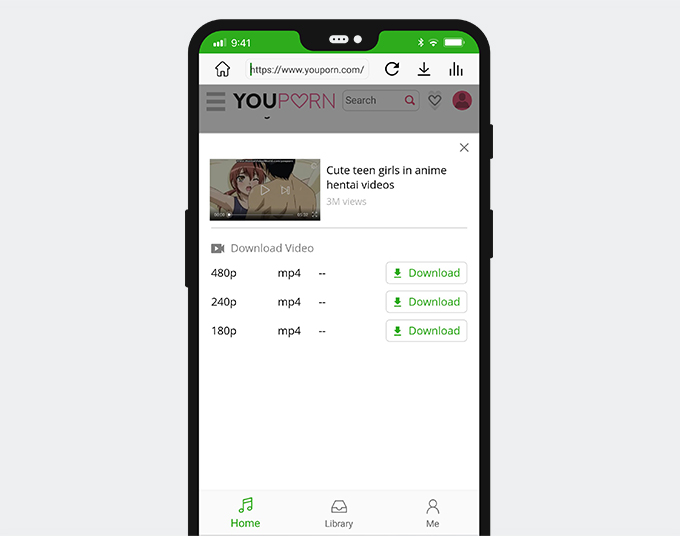 Download from YouPorn on Android