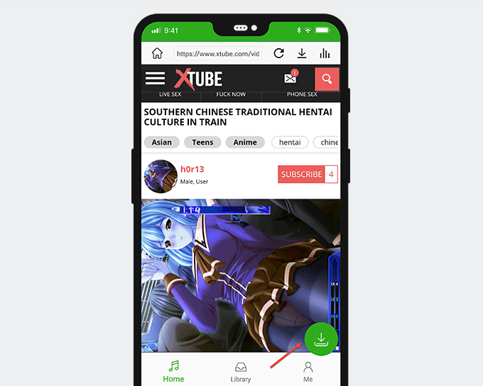 XTube Download with a quick button