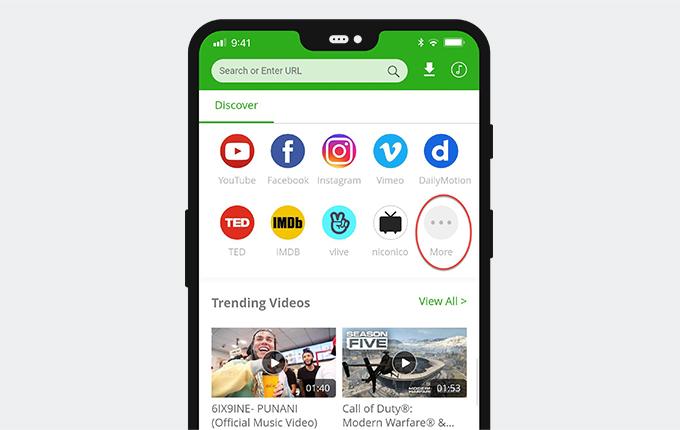 Find porn sites on 6Buses video downloader