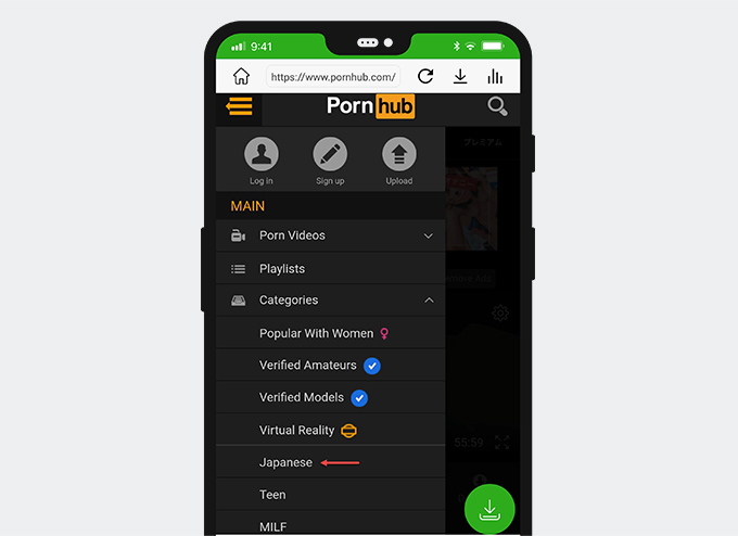 Search for Japanese porn on Pornhub