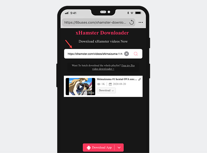 Save from xHamster with Documents