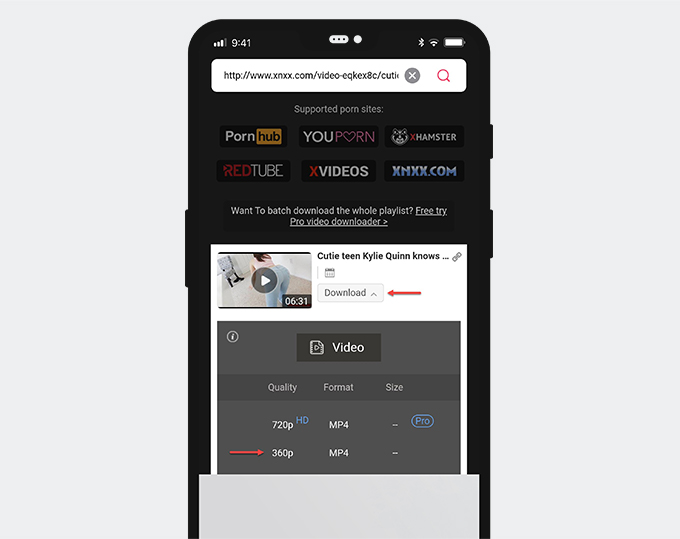 Porn video download app Android