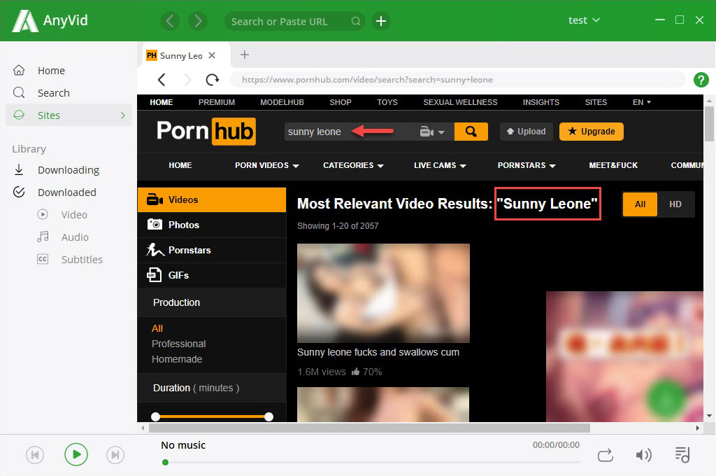 Explore Pornhub on 6Buses video downloader