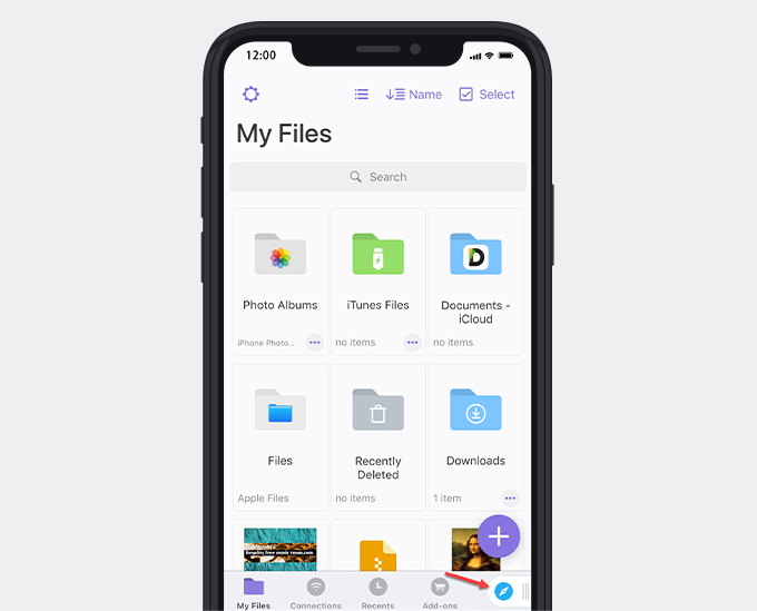 Use built-in browser of Documents